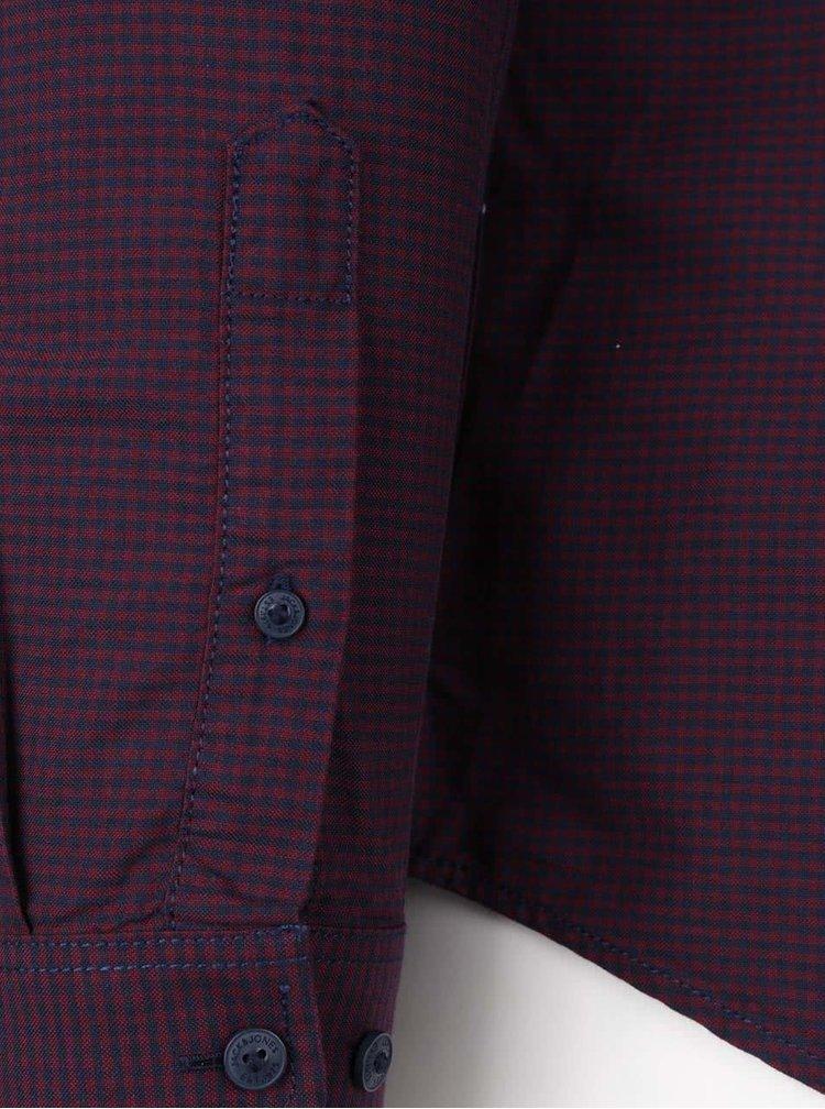 Modro-vínová kockovaná košeľa Jack & Jones Charlie