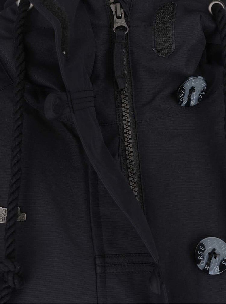 Čierny dámsky kabát s gombíkmi Horsefeathers Sherby