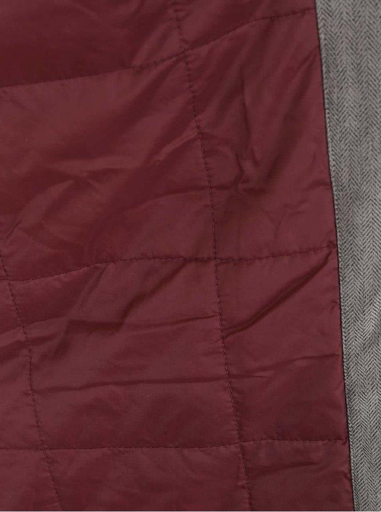 Sivý dámsky kabát s gombíkmi Horsefeathers Sherby