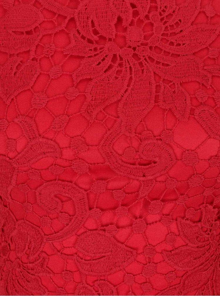 Rochie bodycon AX Paris roșie din dantelă