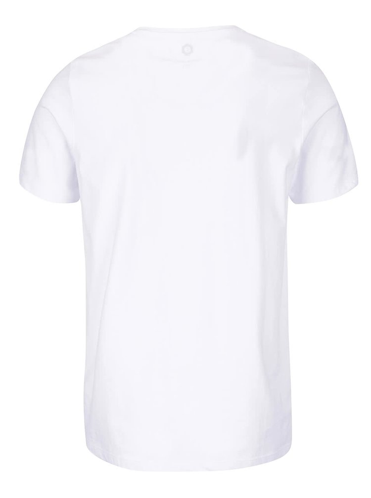 Tricou alb Jack & Jones Numbers din bumbac cu print