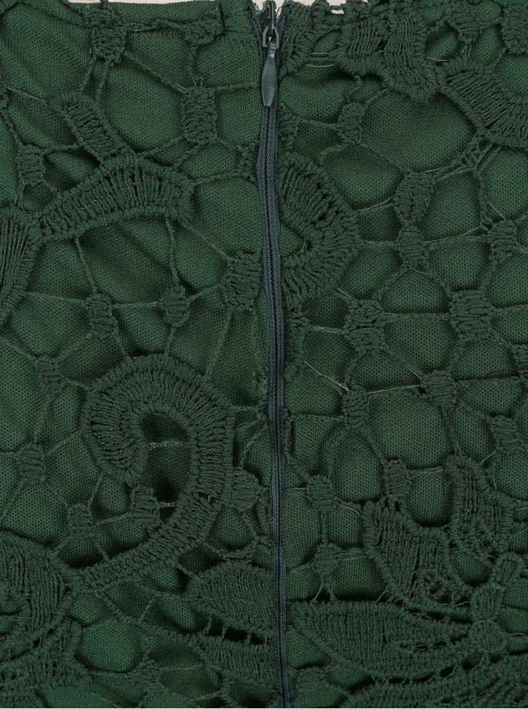 Rochie verde AX Paris din dantelă