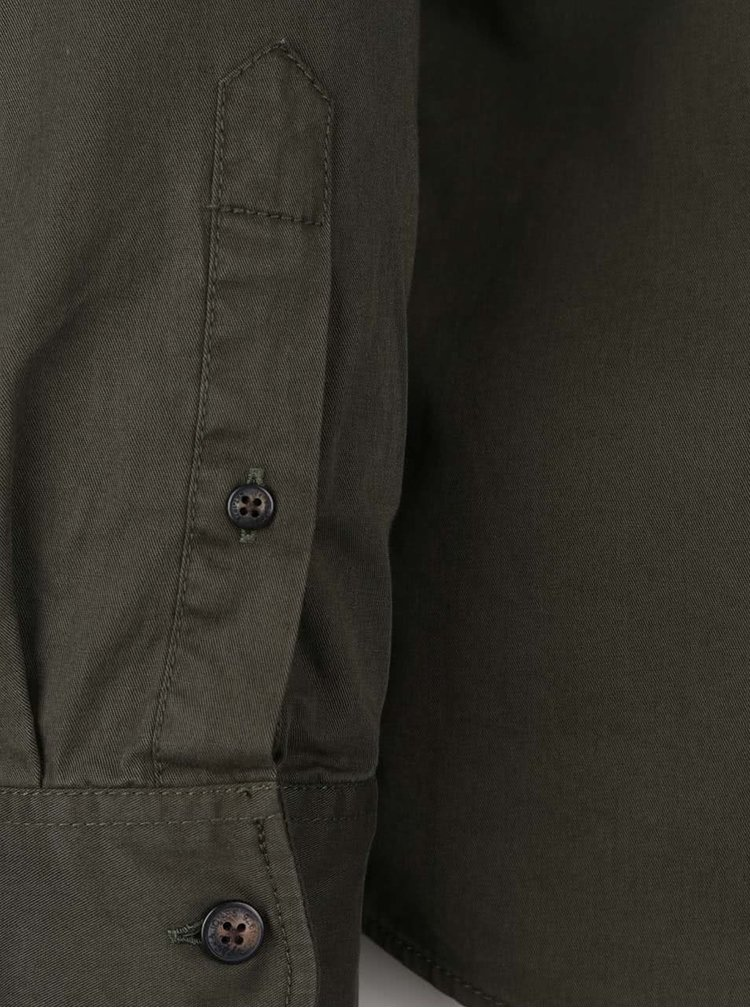 Khaki košile s náprsní kapsou Jack & Jones Land