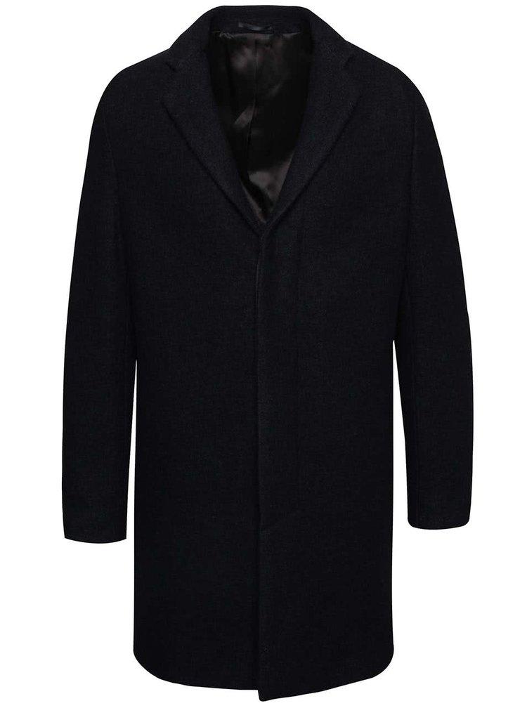 Tmavomodrý kabát Selected Homme Brook Boucle