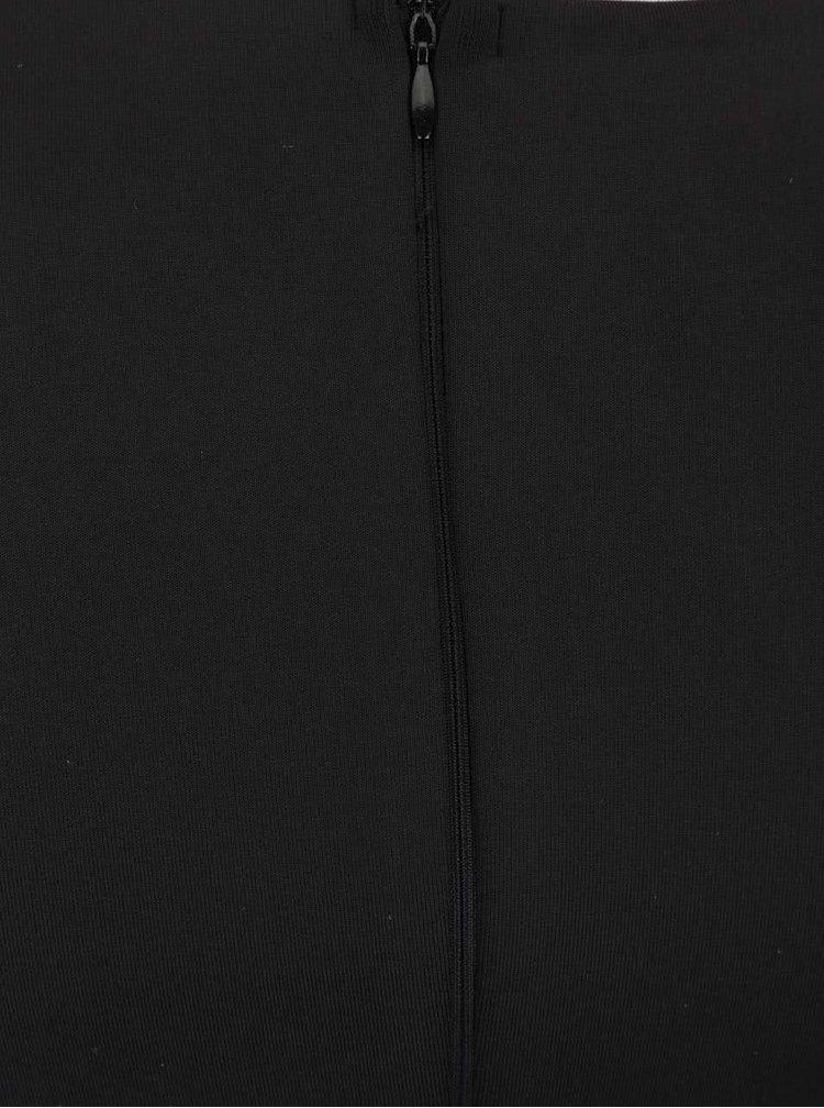 Čierne šaty s krémovou čipkou AX Paris