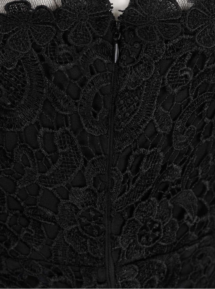 Černé krajkové šaty bez rukávů AX Paris