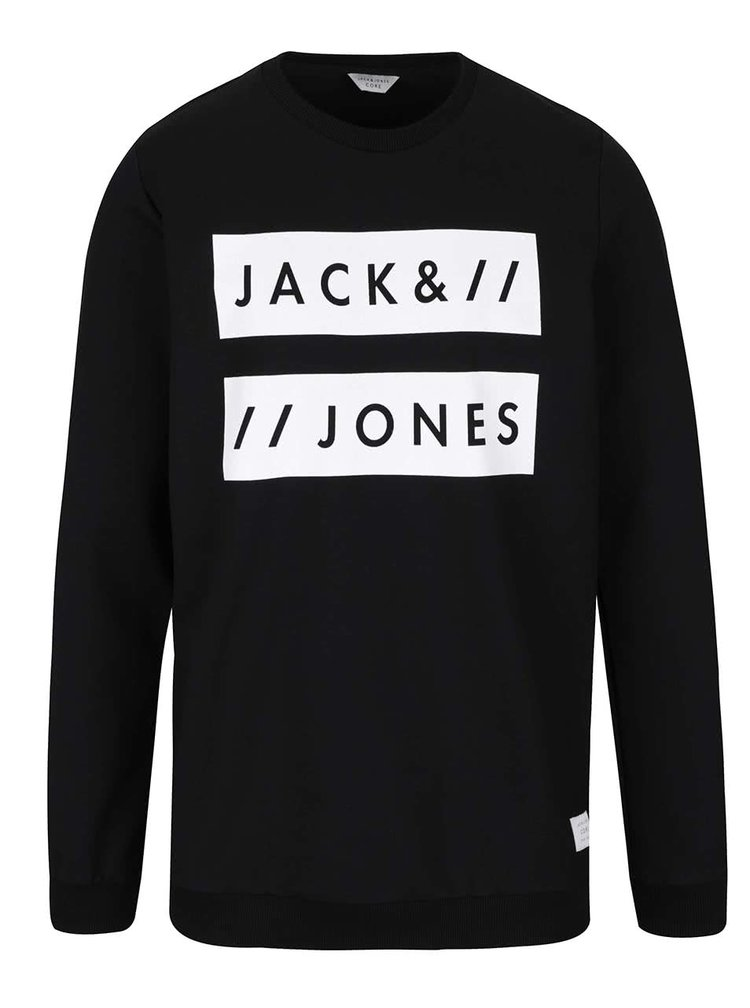 Čierna mikina s nápisom Jack & Jones Box