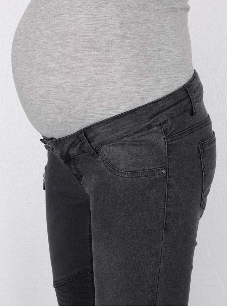 Tmavosivé tehotenské rile Mama.licious Biker
