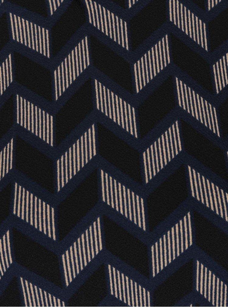 Tmavě modré vzorované šaty AX Paris