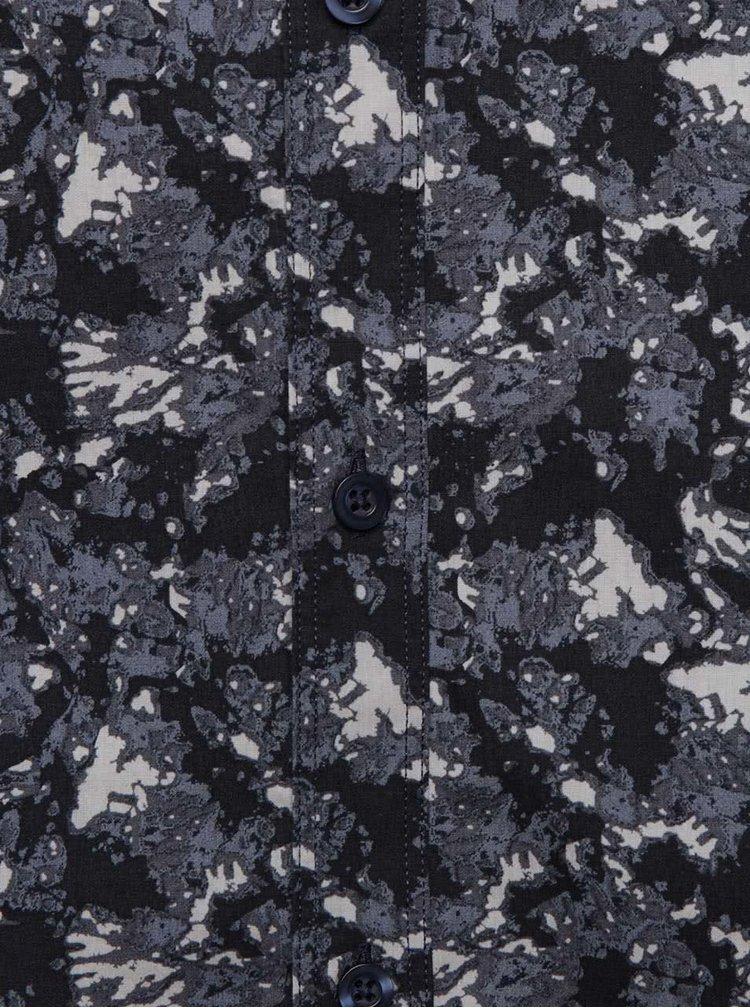 Tmavě modrá vzorovaná košile Selected Homme Nefall