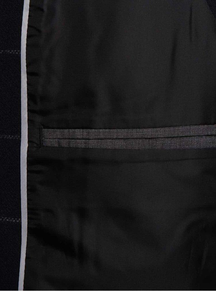 Tmavomodrá kockovaná vesta Selected Homme Neblair