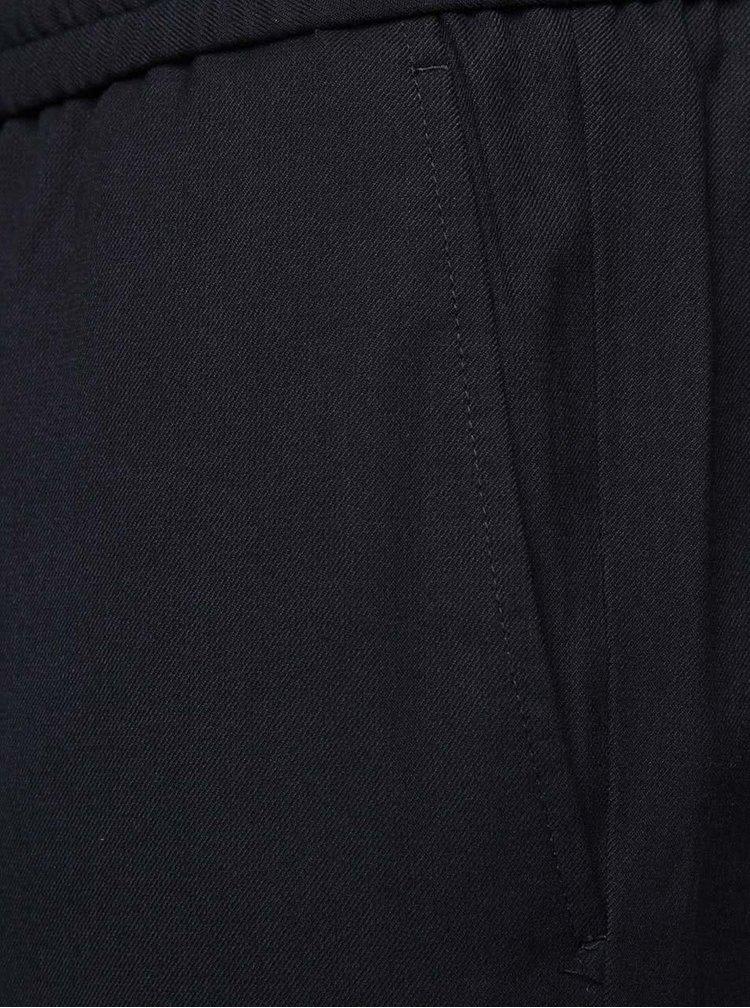 Tmavě modré kalhoty s pružným pasem Selected Homme Key