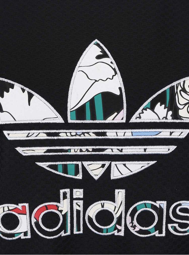 Čierna dámska vzorovaná mikina s logom adidas Originals