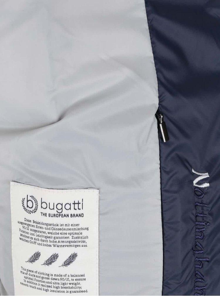 Tmavě modrá dámská prošívaná bunda Bugatti