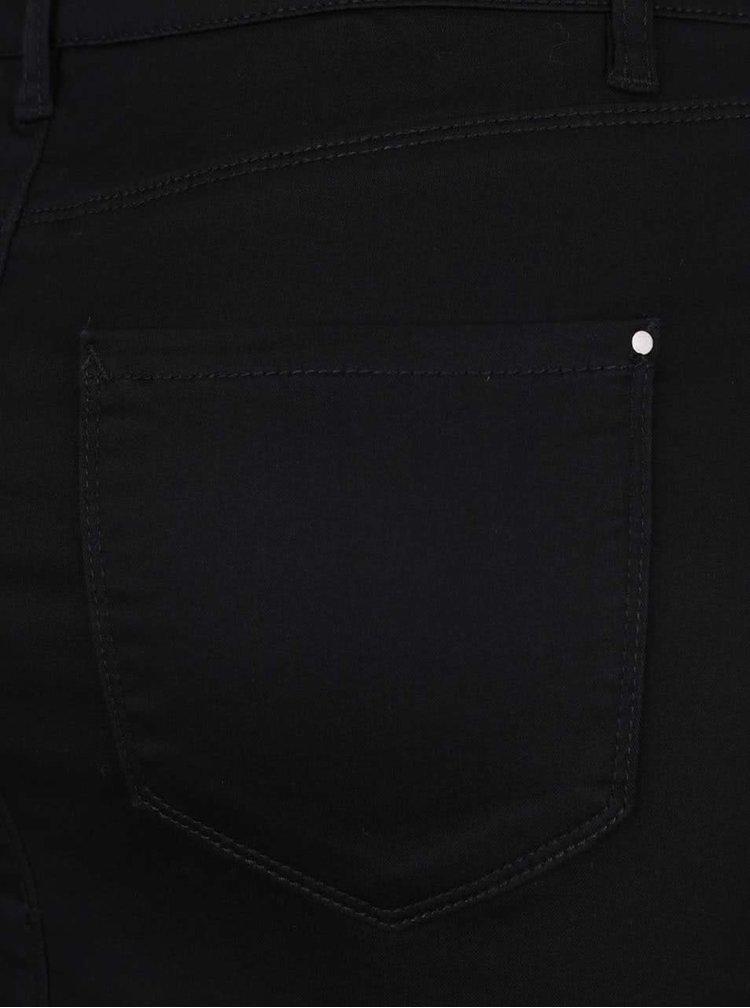 Čierna minisukňa s ozdobnými cvokmi VERO MODA Flexit