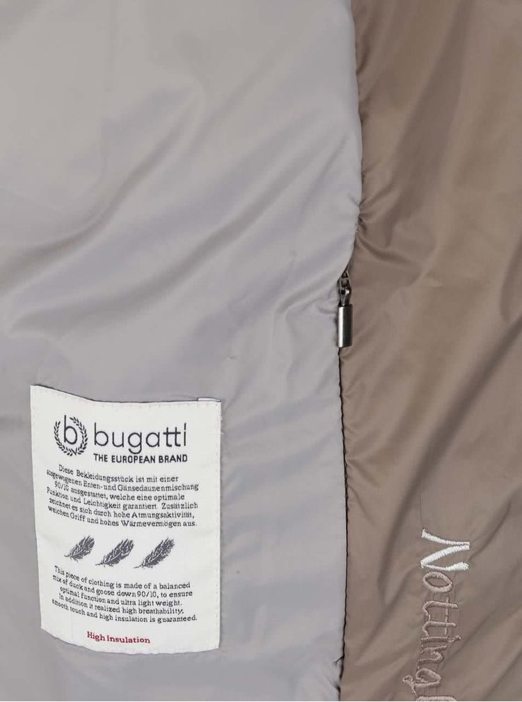 Světle hnědá dámská prošívaná bunda Bugatti