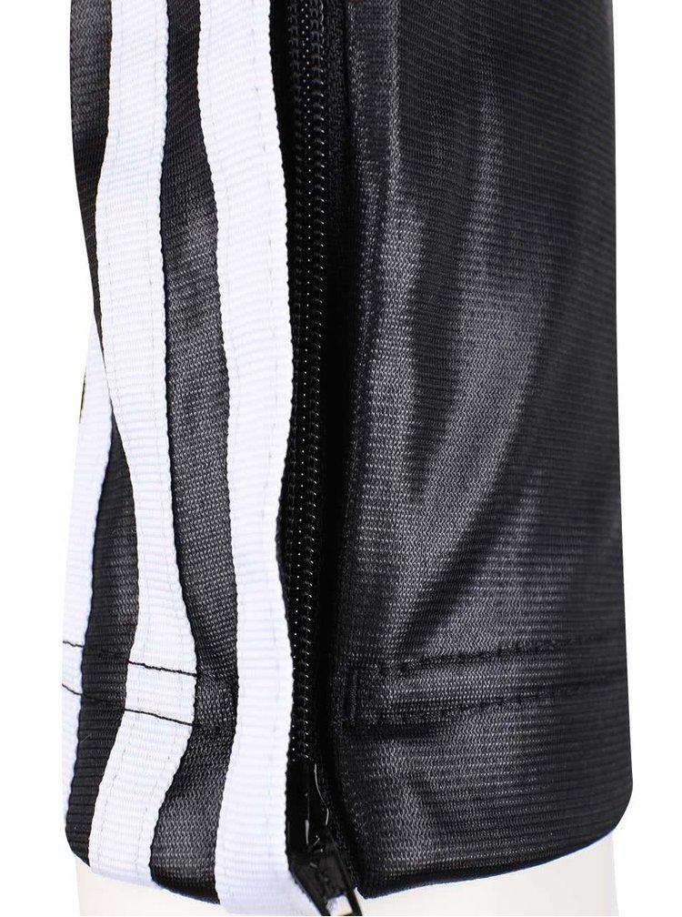 Čierne dámske lesklé tepláky adidas Originals