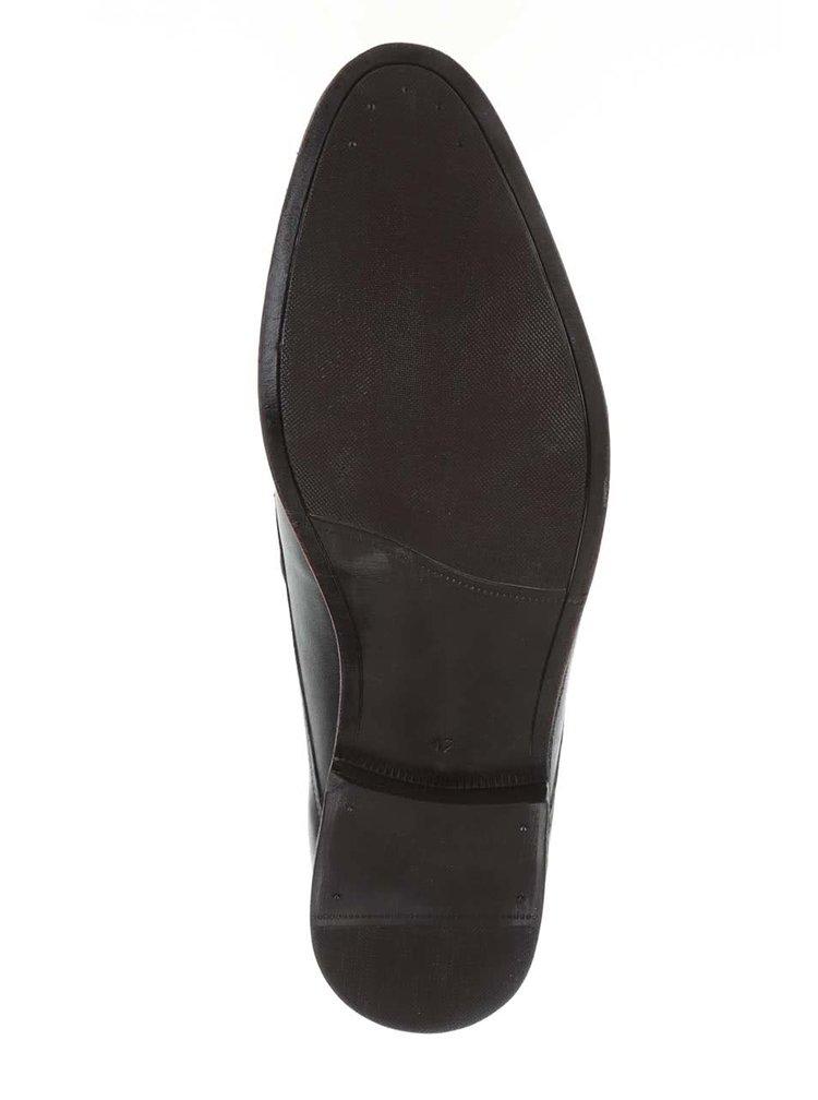 Pantofi albastru ultramarin OJJU cu detalii maro pentru barbati