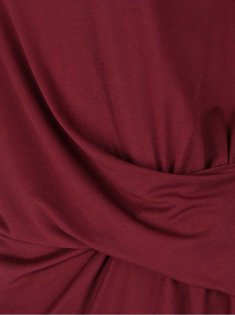 Vínové tričko s 3/4 rukávem VERO MODA Monica