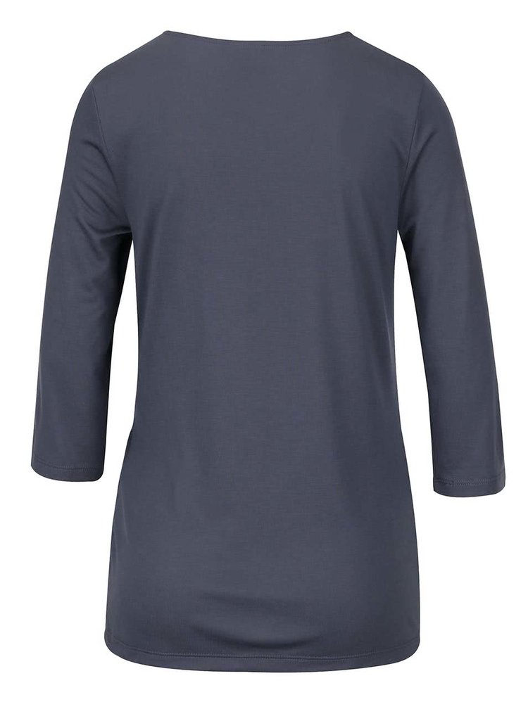 Sivomodré tričko s 3/4 rukávom VERO MODA Monica