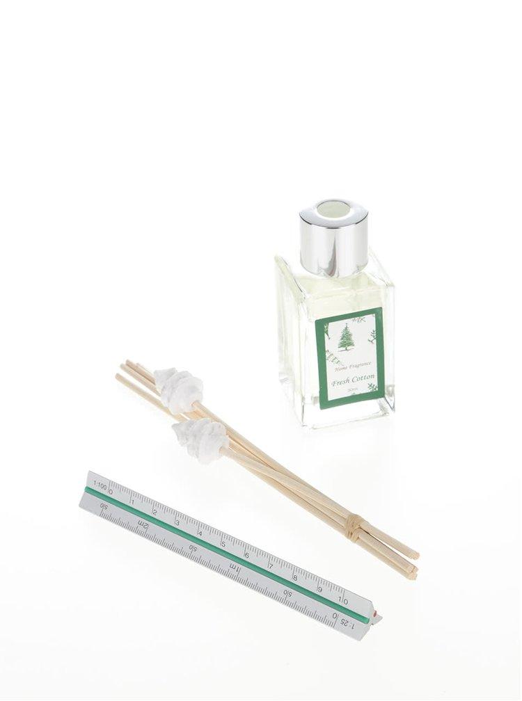 Difuzér s vůní bavlny v zelené barvě Dakls