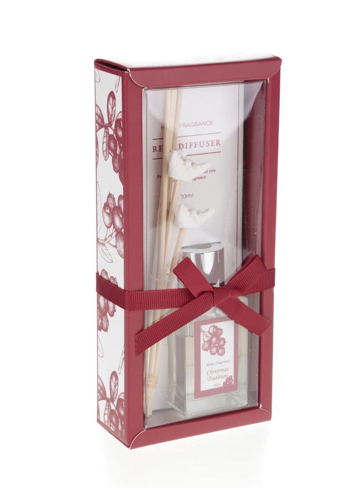Difuzér s vůní vánoční tradice v červené barvě Dakls