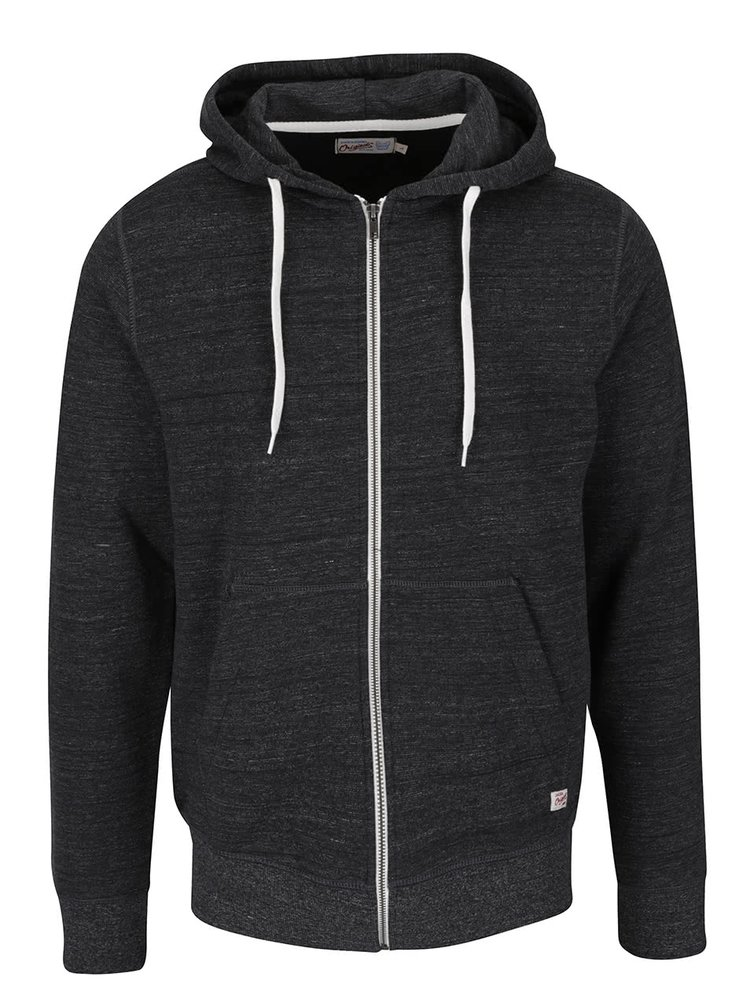 Hanorac gri închis Jack & Jones Storm cu model discret