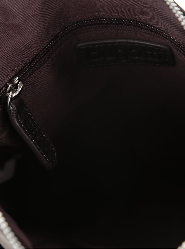 Tmavohnedá pánska kožená crossbody taška bugatti Montreal