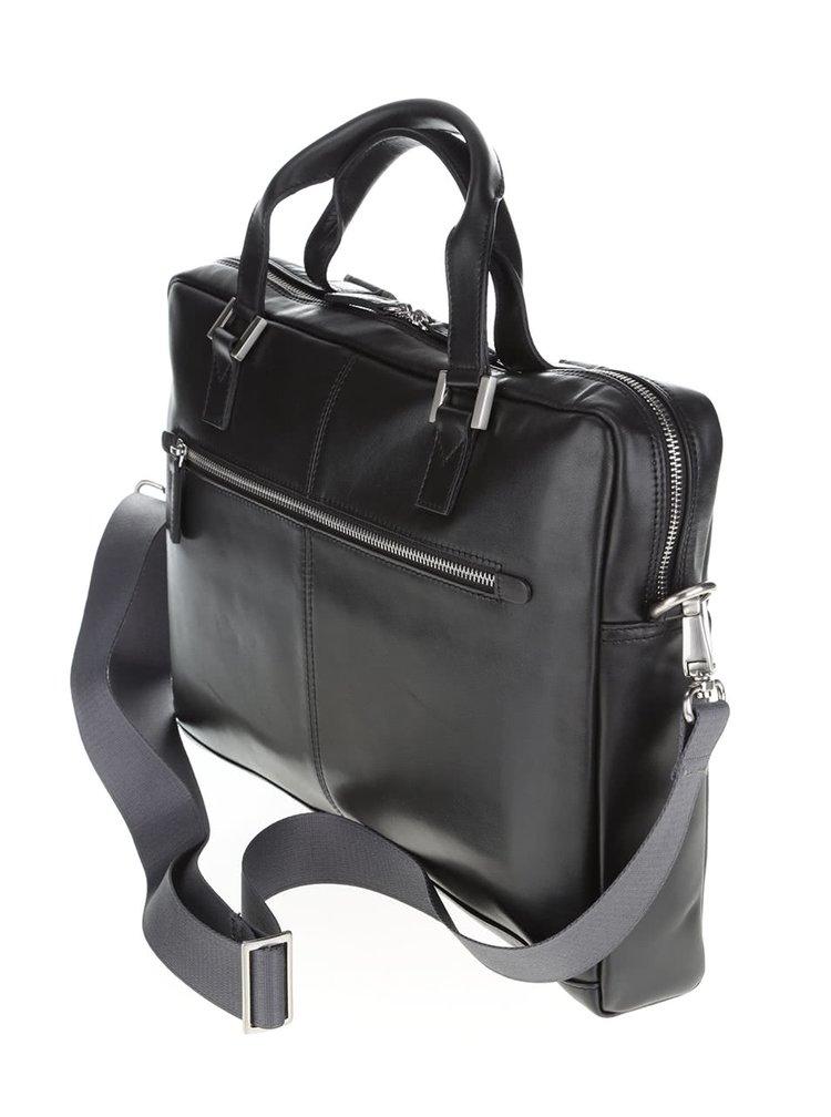 Černá pánská kožená taška bugatti Manhattan