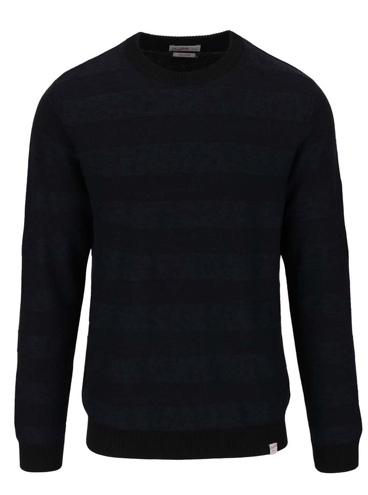 Tmavomodrý ľahký sveter Jack & Jones Abraham