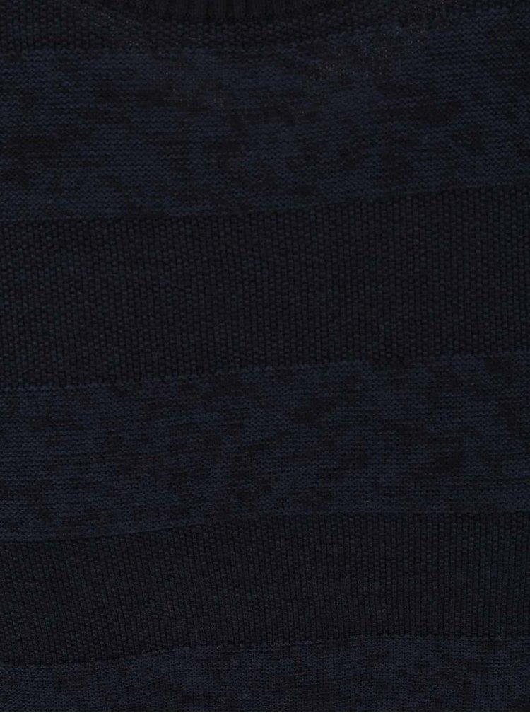 Pulover albastru închis Jack & Jones Abraham cu model în dungi