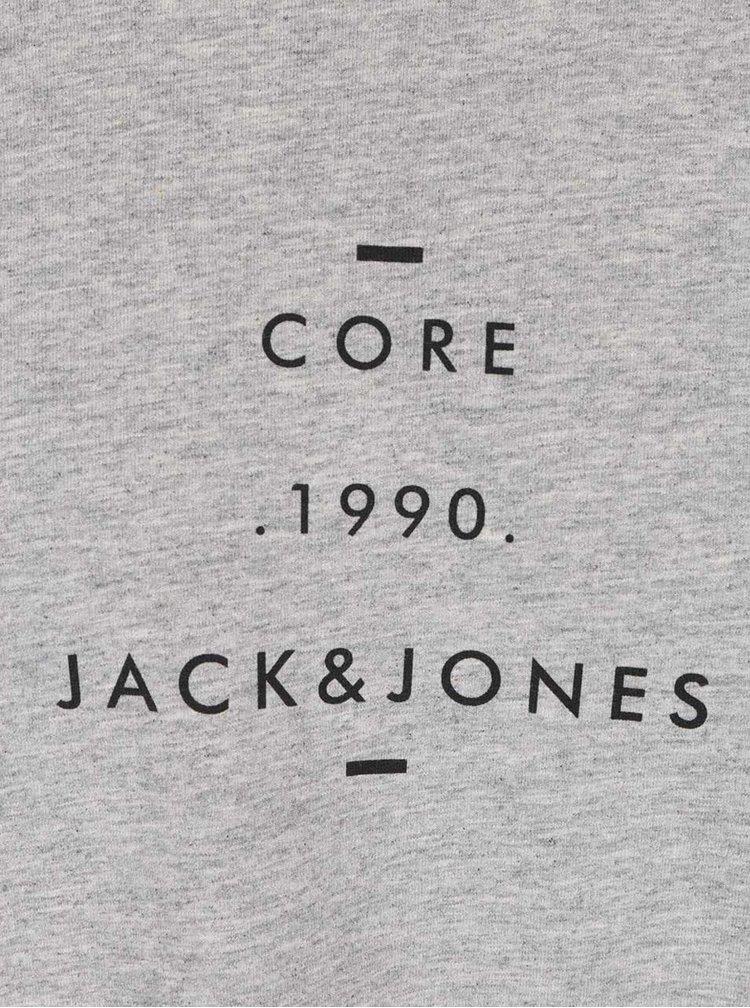 Šedé triko s dlouhým rukávem Jack & Jones Howie