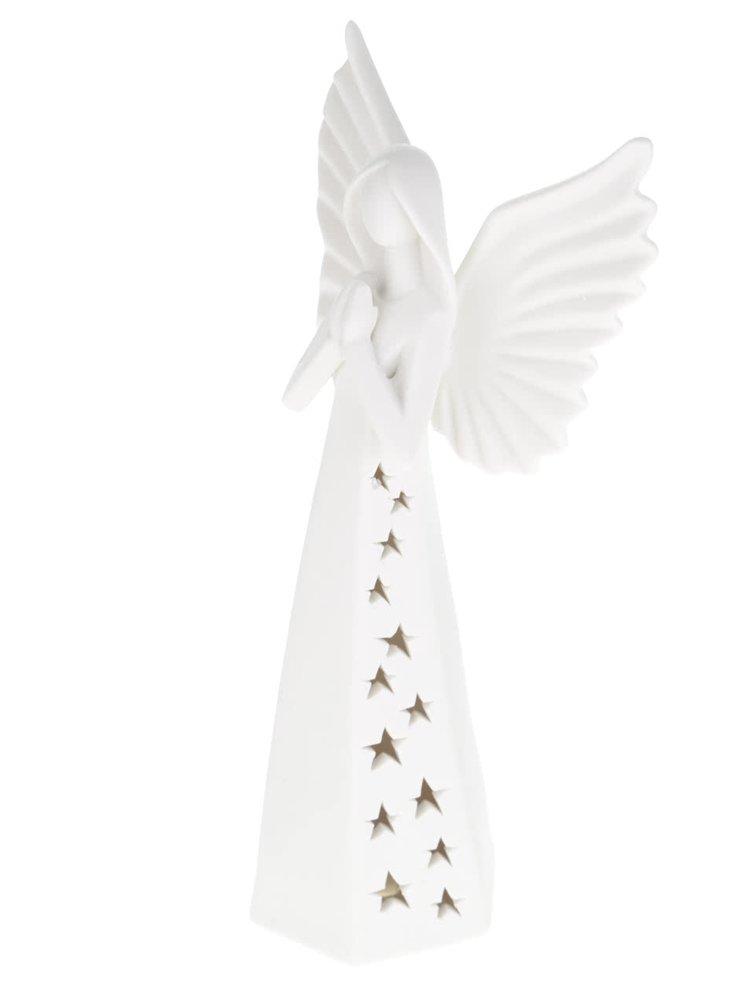 Suport de lumânare alb Dakls din porțelan