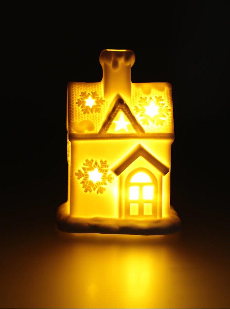 Biely procelánový LED domček Dakls