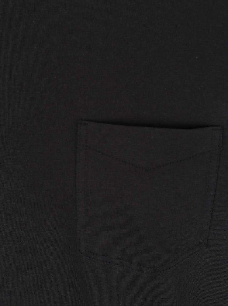 Tricou negru Jack & Jones Ari din bumbac