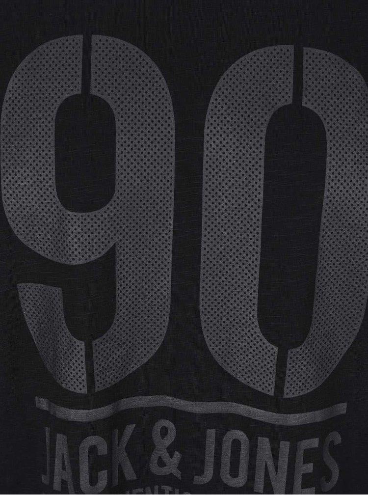 Černé triko s potiskem Jack & Jones Triumph