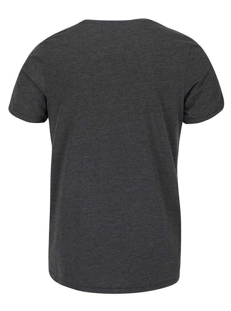 Tmavě šedé triko s potiskem Jack & Jones Recycle Gardner