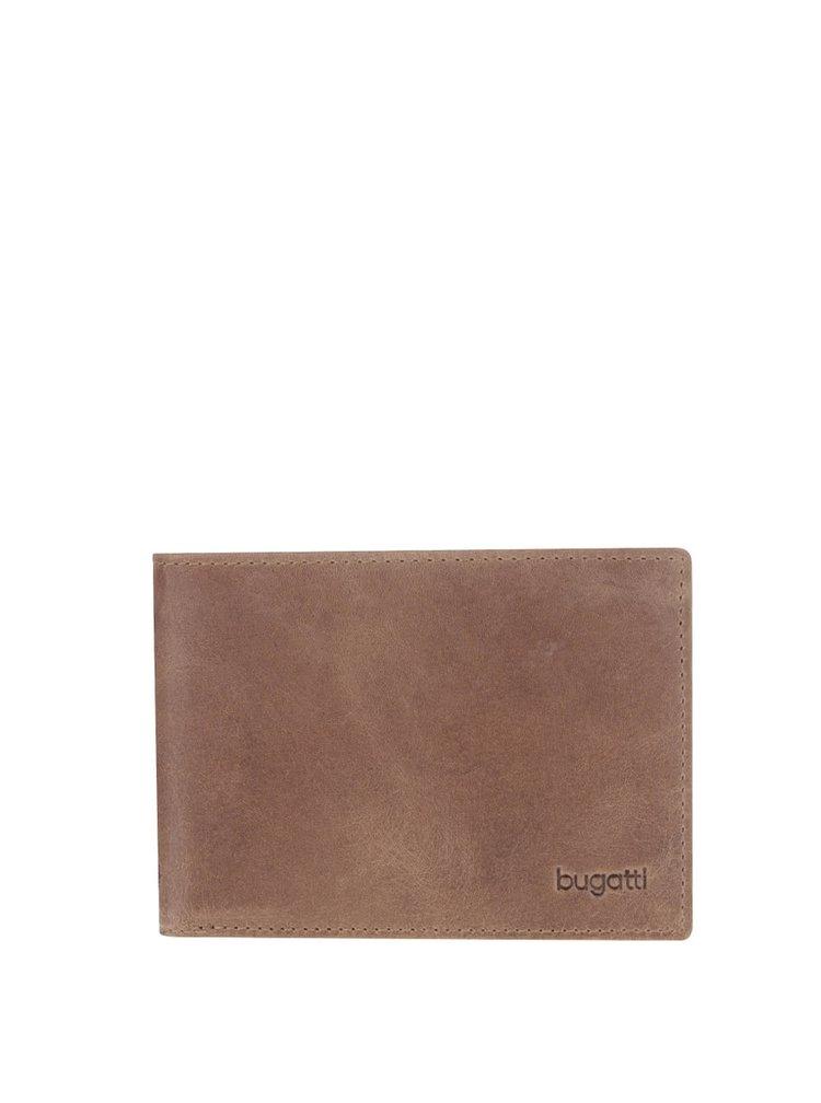 Hnedá pánska kožená peňaženka bugatti Volo