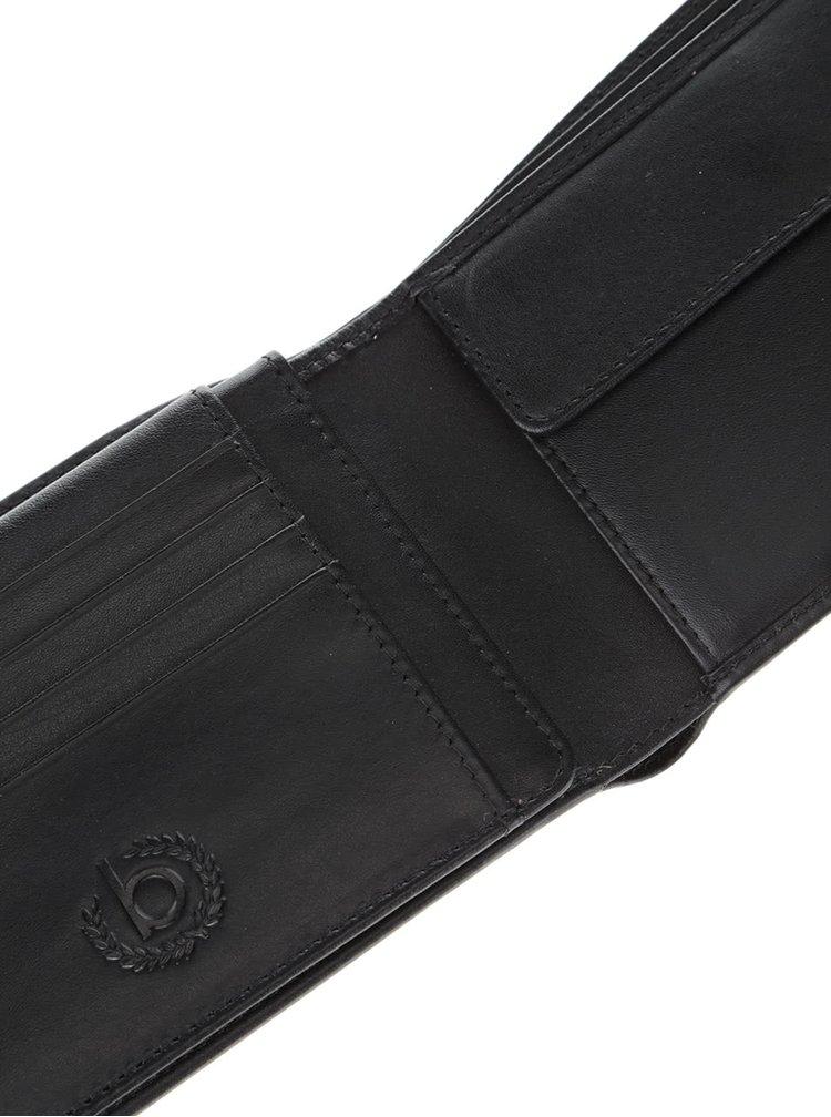 Černá pánská kožená peněženka bugatti Primo