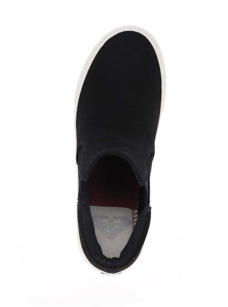 Čierne členkové topánky v semišovej úprave Roxy Juno