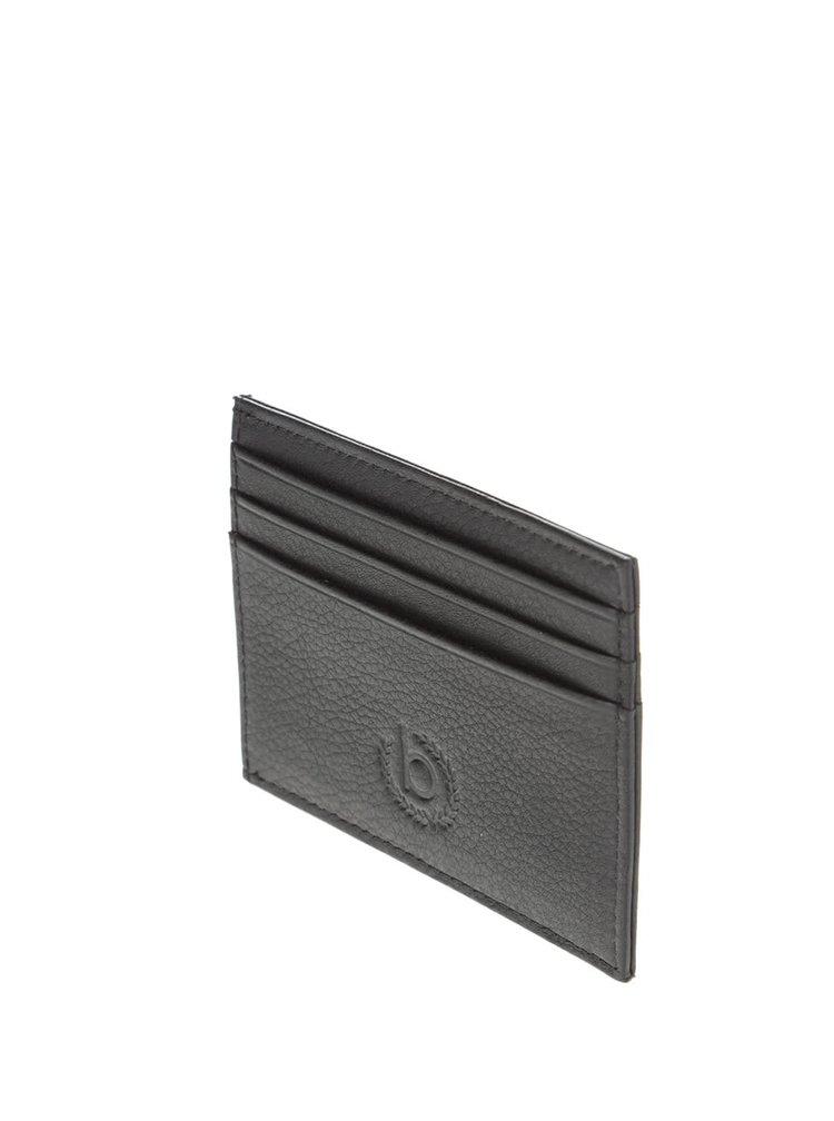 Portcard negru bugatti Sempre din piele