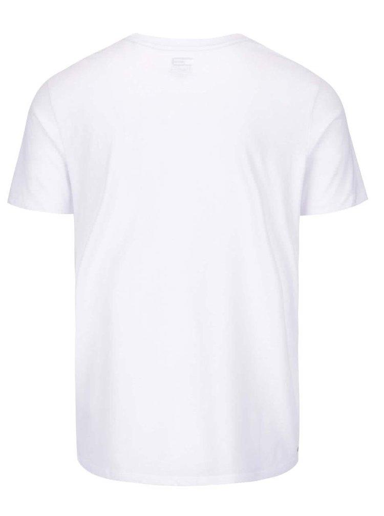 Biele tričko s potlačou hôr Jack & Jones Embrace
