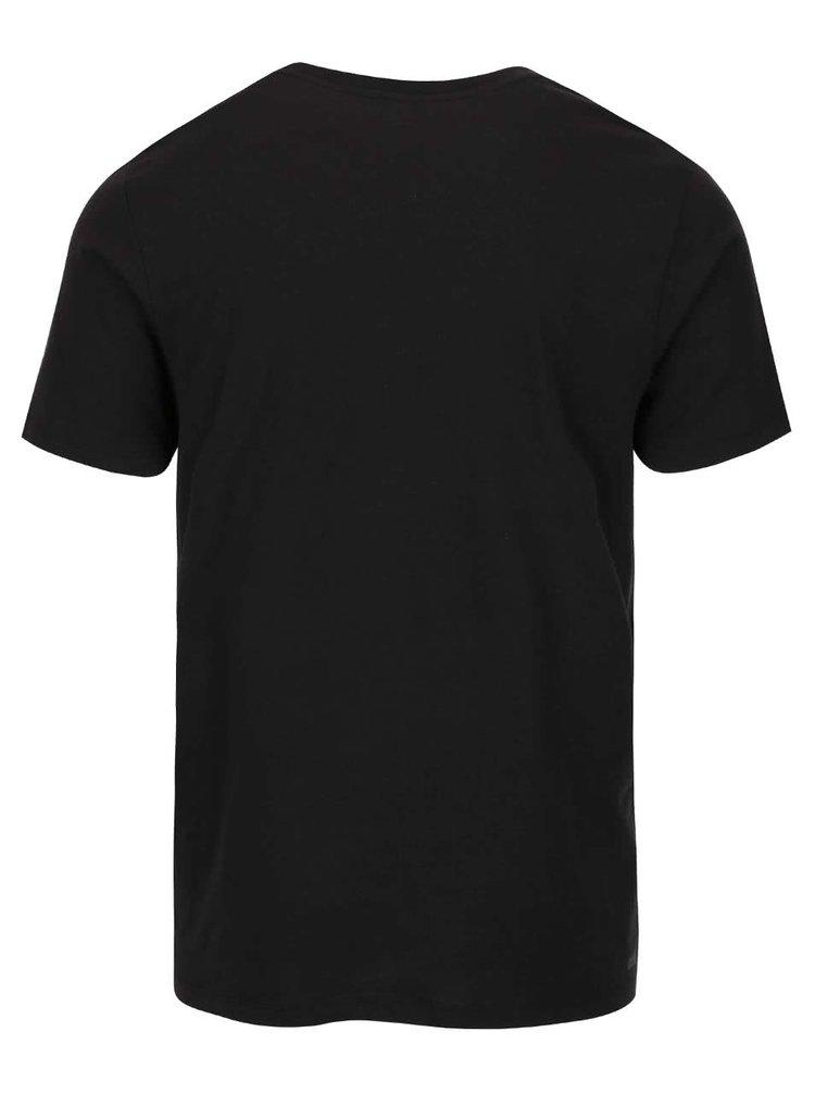 Čierne tričko s potlačou Jack & Jones Embrace