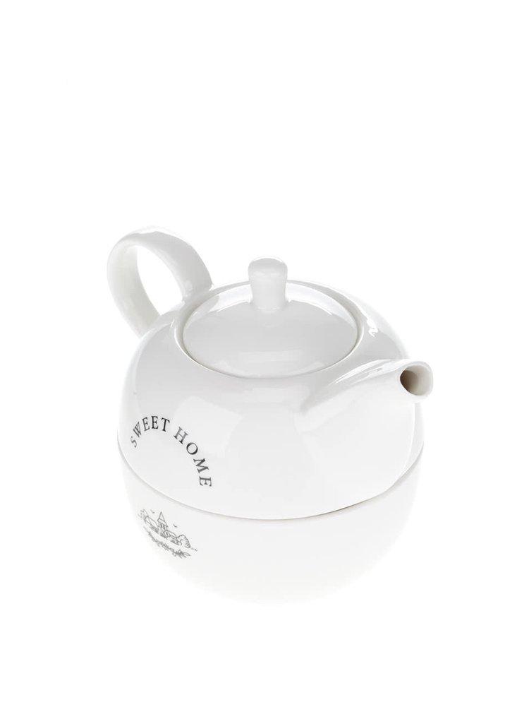 Biela keramická čajová súprava Dakls Sweet home