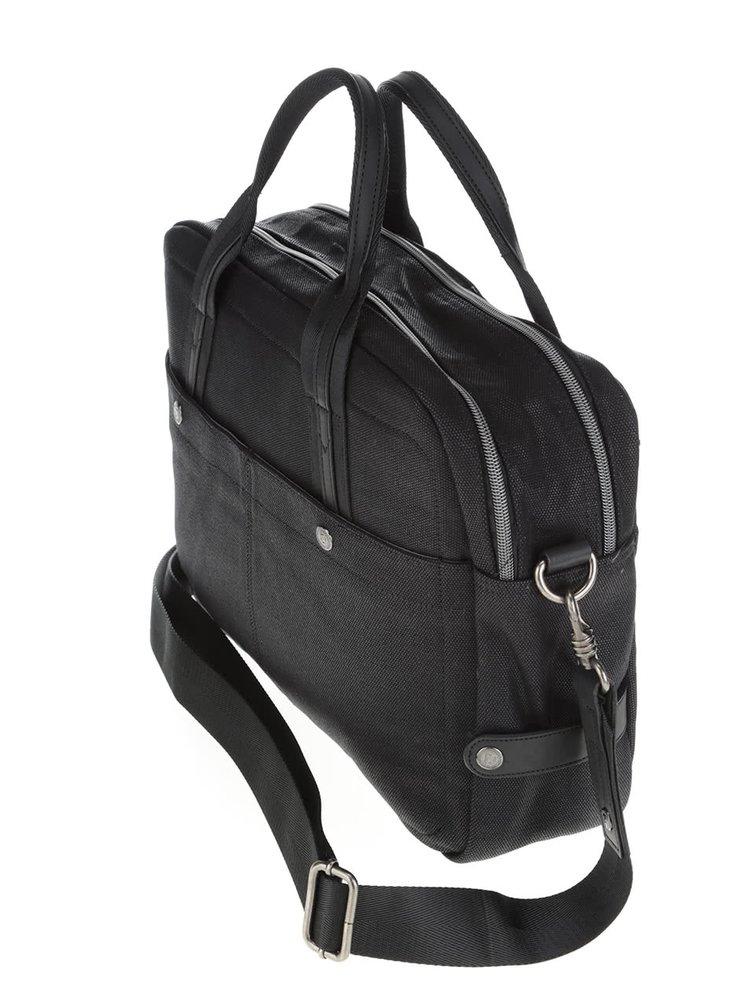 Čierna pánska taška na notebook bugatti Lino