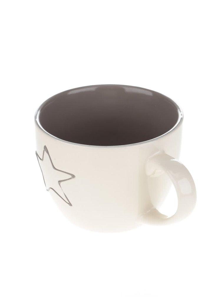 Cană din ceramică Dakls crem cu model