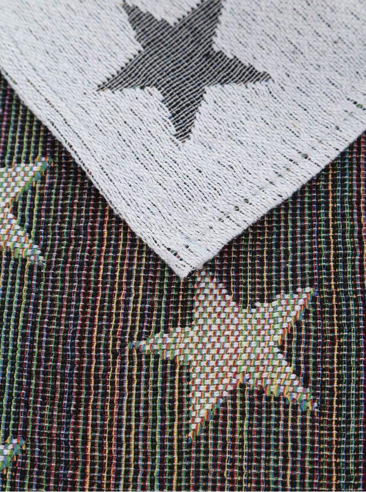 Sada dvou krémových prostírání s hvězdami Dakls