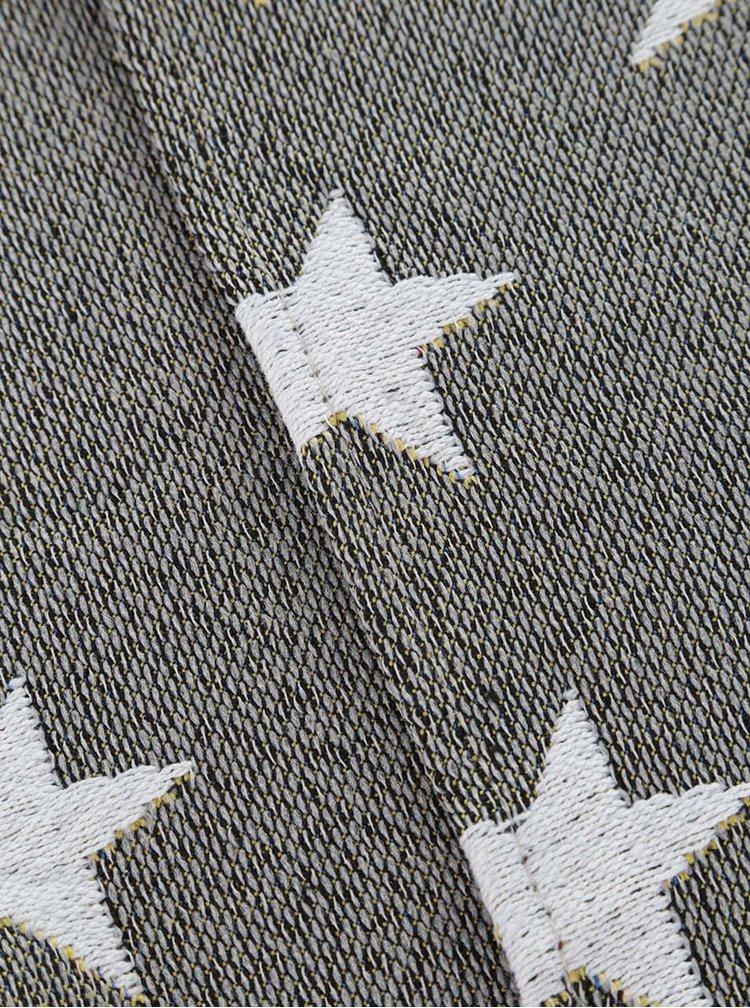 Sada dvou šedozelených prostírání s hvězdami Dakls