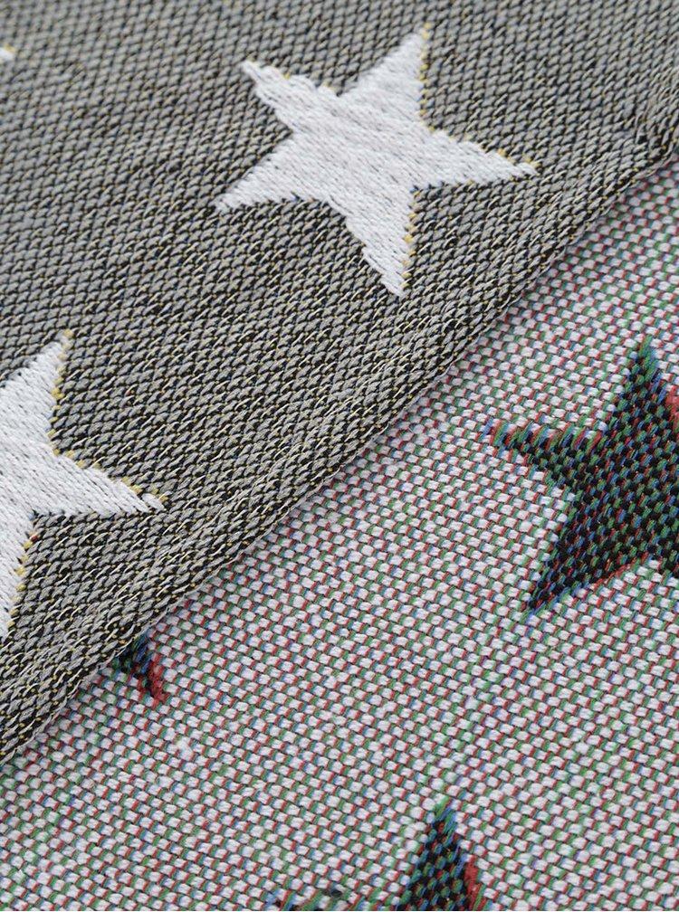 Sivozelený behúň s hviezdami Dakls