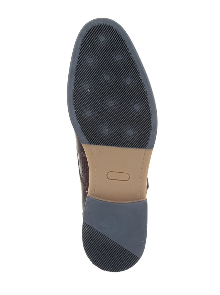 Tmavohnedé pánske kožené členkové topánky so sivými detailmi Bullboxer